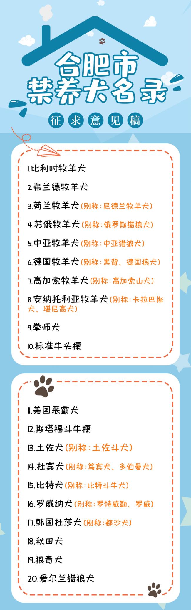 安徽合肥拟禁养中华田园犬